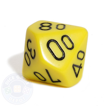 d10 percentile tens dice - Yellow