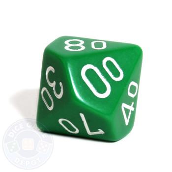 d10 percentile tens dice - Green