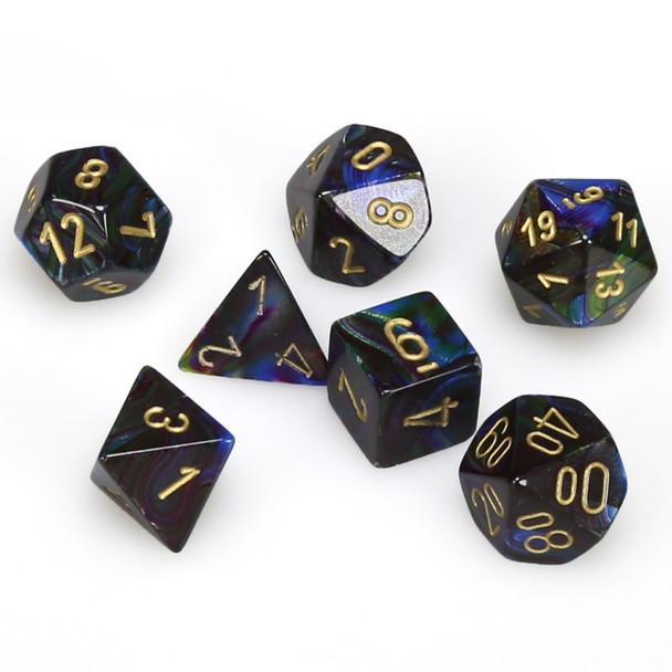 D&D dice - 7-Piece Polyhedral Dice Set - Lustrous Shadow