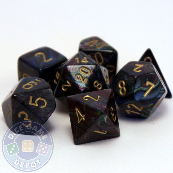 Lustrous Polyhedral Dice Set - Shadow