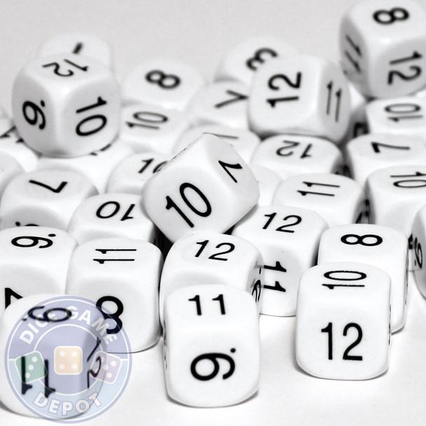 Math dice set of 200 - Seven through twelve