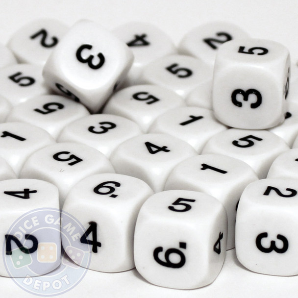 Math dice set of 200 - One through six