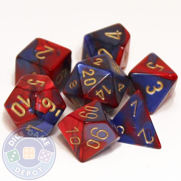 7-piece Gemini dice set