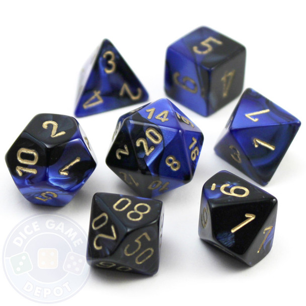 7-piece Gemini polyhedral dice set - D&D dice