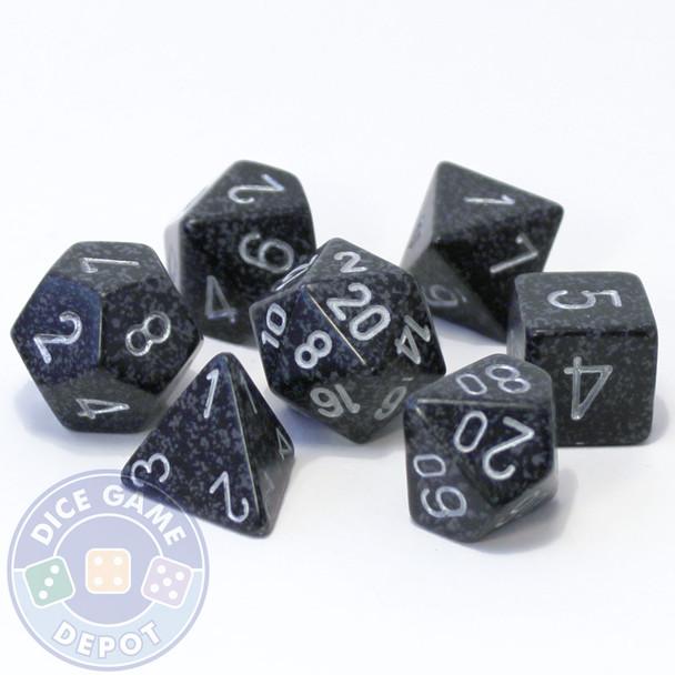 7-piece D&D role-playing dice set - Ninja