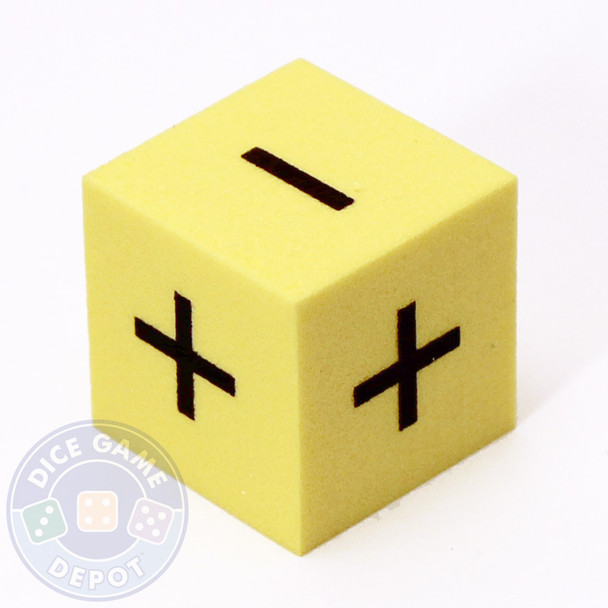 25mm foam math dice - Addition and subtraction