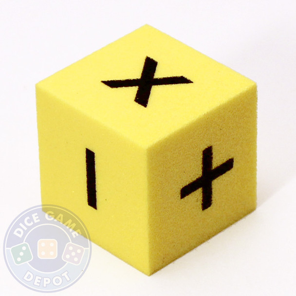25mm foam math dice - Addition, subtraction, multiplication, and division