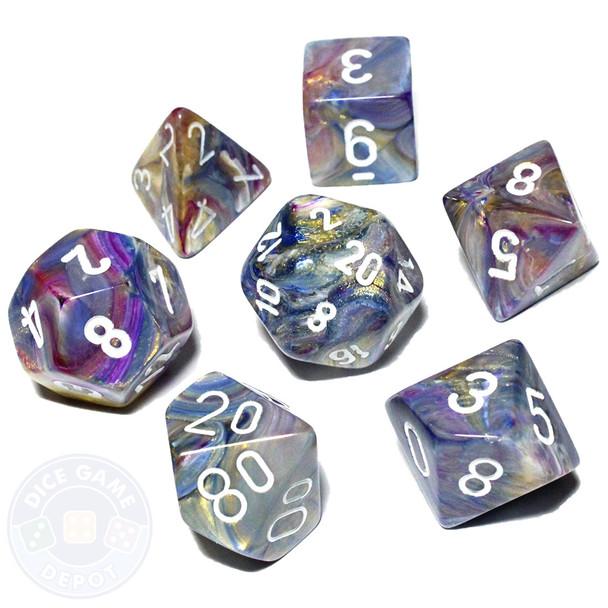 7-piece Festive dice set - D&D dice set - Carousel