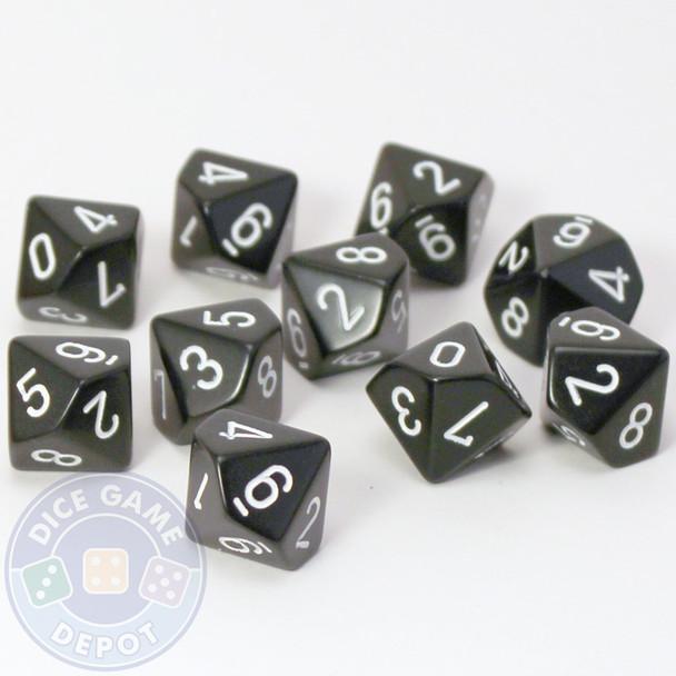 d10 set of ten - Black