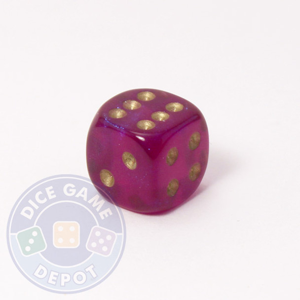 Borealis Dice - 12mm - Royal Purple