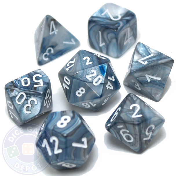 D&D dice - 7-Piece RPG Dice Set - Lustrous Slate