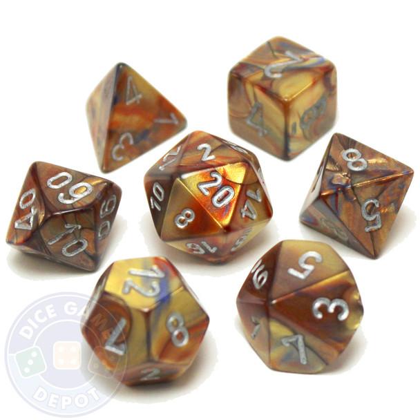 D&D dice - 7-Piece RPG Dice Set - Lustrous Gold