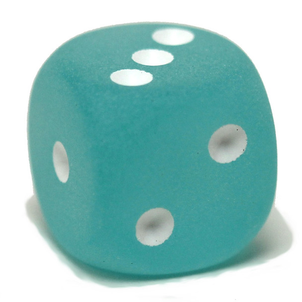 Frosted Teal dice from Chessex