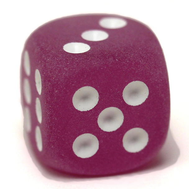 Frosted purple 6-sided dice from Chessex