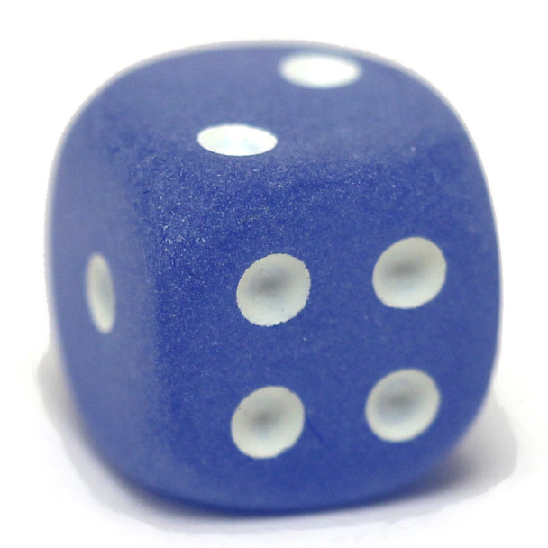 Frosted blue dice from Chessex