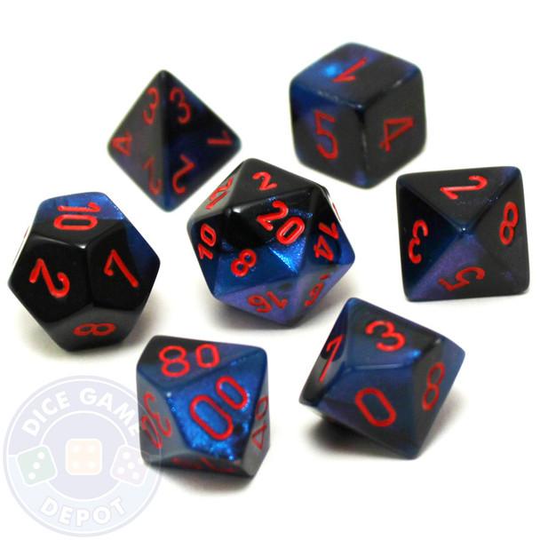 Gemini Starlight D&D dice set
