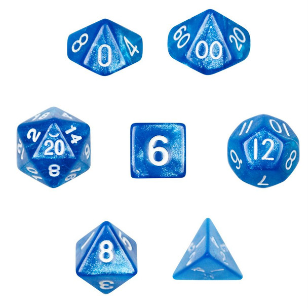 Horizon polyhedral dice set