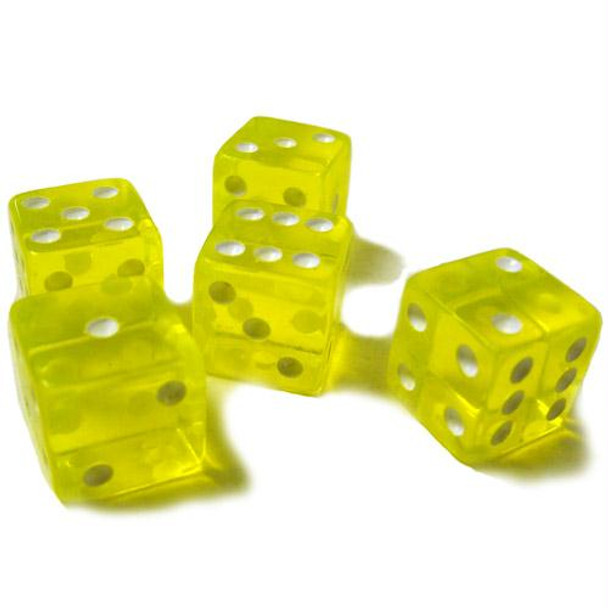 Yellow transparent 16mm dice