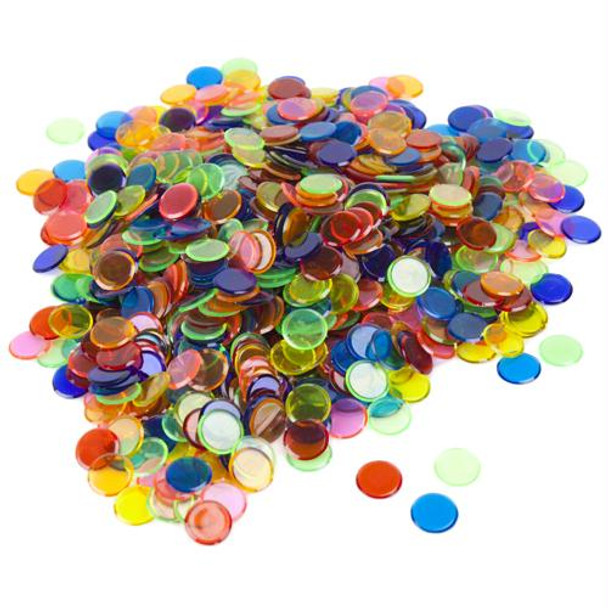 Bingo Chips / Counting Chips - Assorted Colors - Pack of 1000