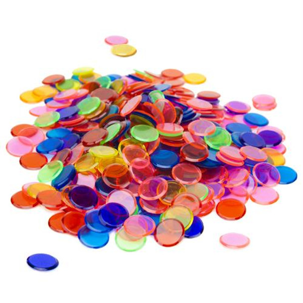 Bingo Chips / Counting Chips - Assorted Colors - Pack of 350