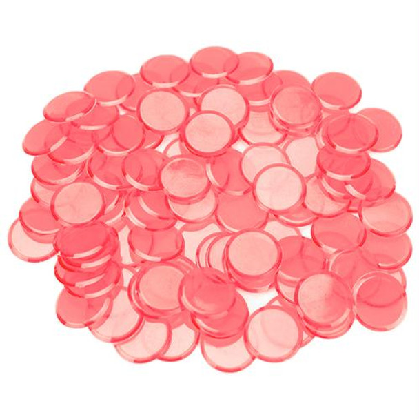 Bingo Chips / Counting Chips - Pink - Pack of 100