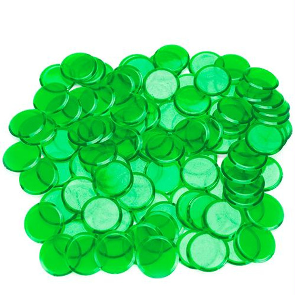 Bingo Chips / Counting Chips - Green - Pack of 100