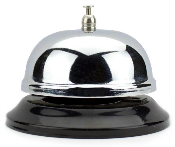 Large Chrome Bell with Black Base