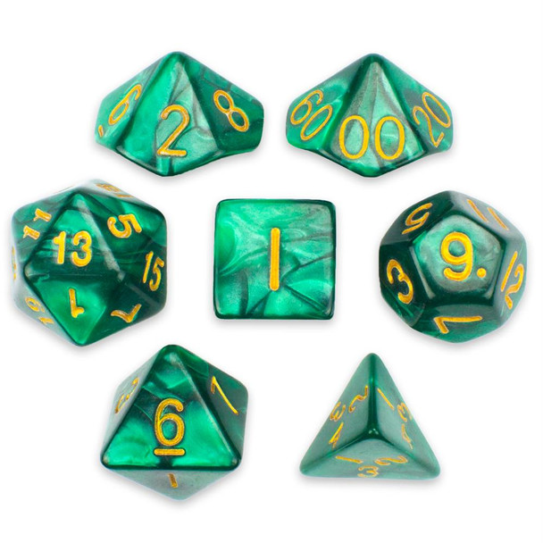 Basilisk Blood dice set
