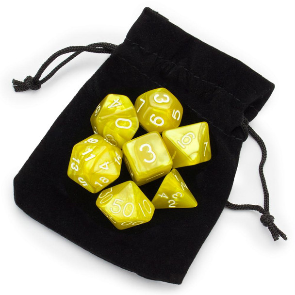 King's Ransom dice set with velvet pouch