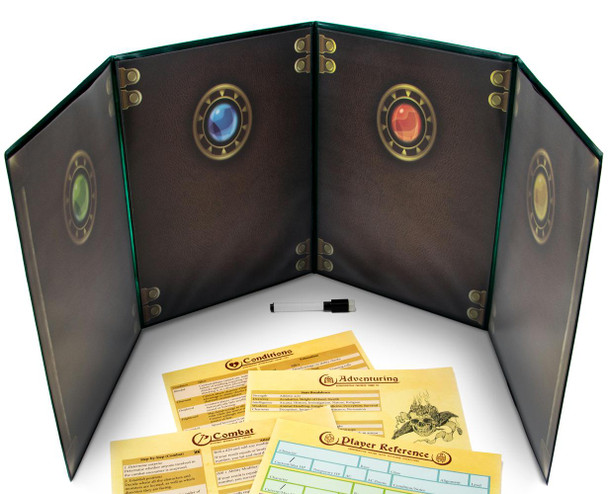 The Master's Tome Customizable DM Screen - Green