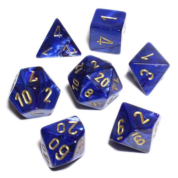 Scarab D&D dice set - Royal Blue