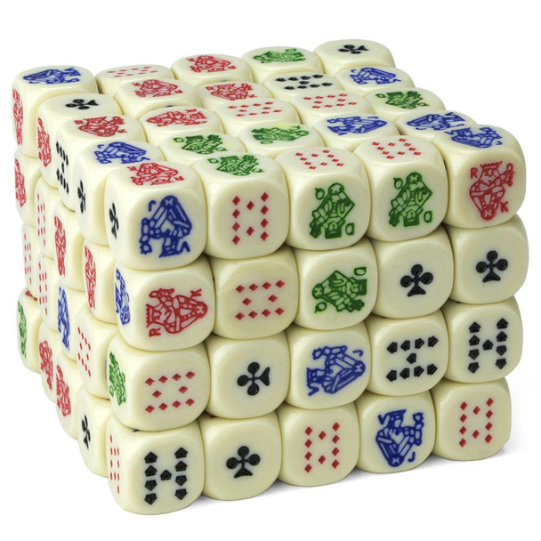 Poker dice - Pack of 100
