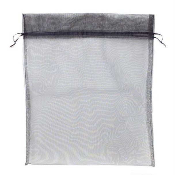 Medium (10in x 12in) Black Organza Bag with Drawstrings