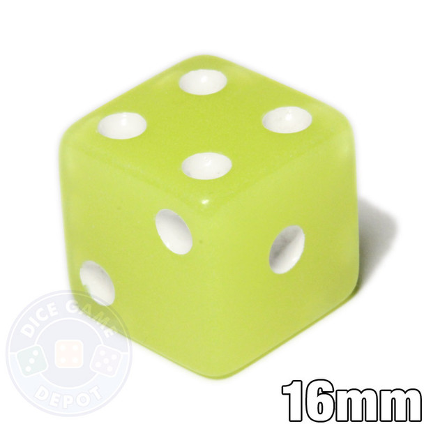 Glow in the dark 6-sided dice