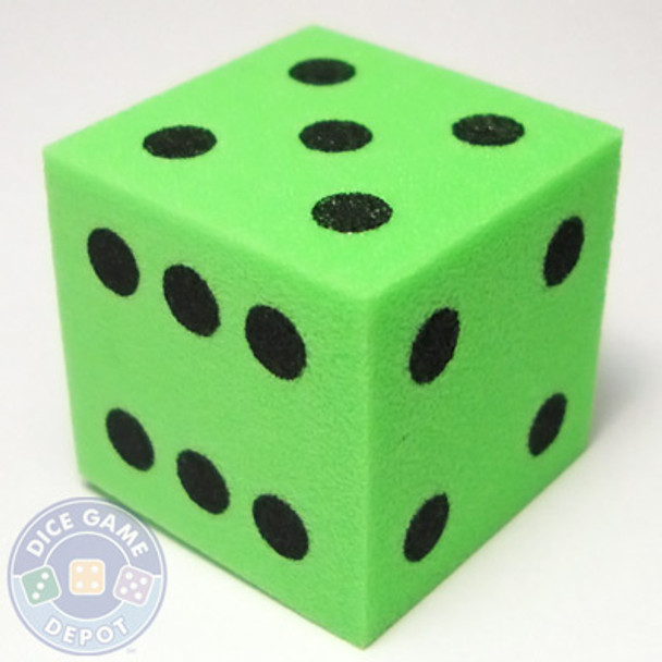Foam Dice - 25mm - Green