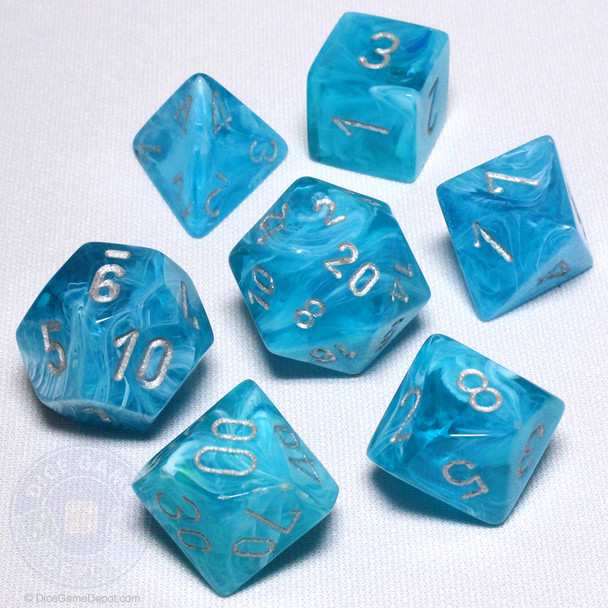 Cirrus Aqua dice set - DnD dice