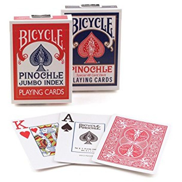 Bicycle Pinochle playing cards - Jumbo index