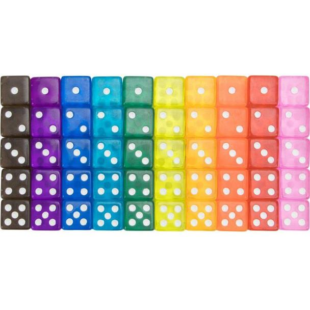 Set of 50 Vintage translucent dice