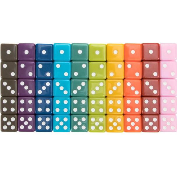 50 Vintage opaque dice