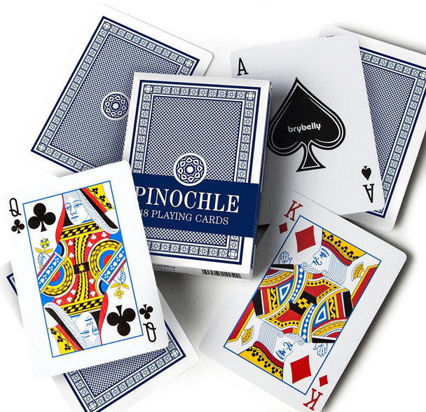 Brybelly Pinochle Cards - Blue