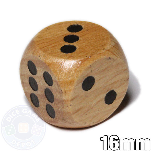 Wooden 6-sided dice
