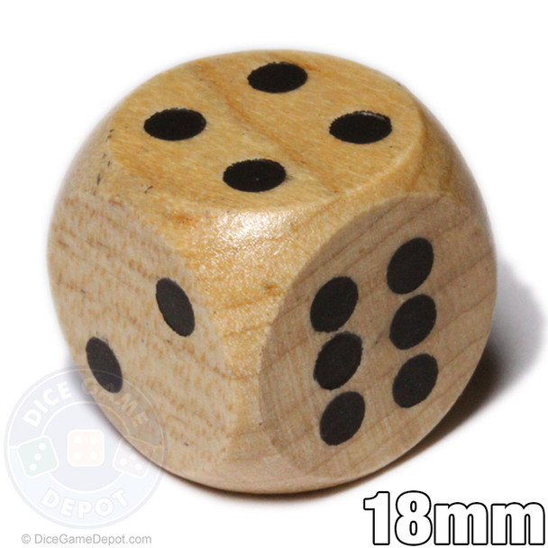 Wooden dice - 18mm size