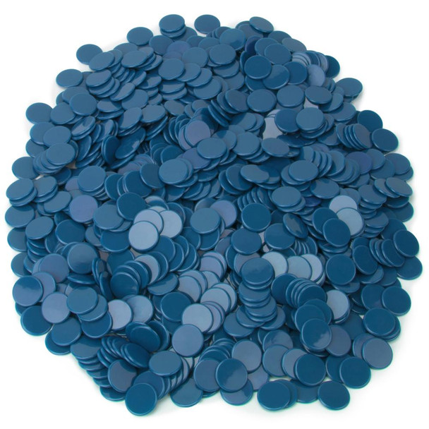 Solid blue bingo chips/counting chips