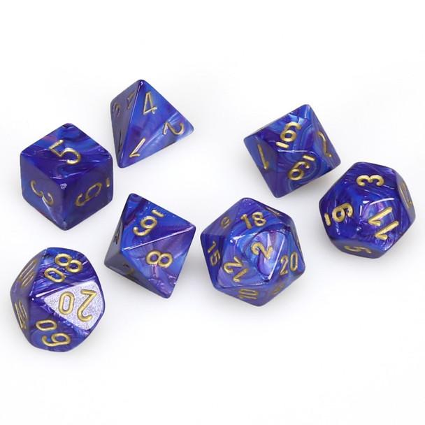 Lustrous purple dice set