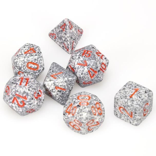 Speckled Granite dice set