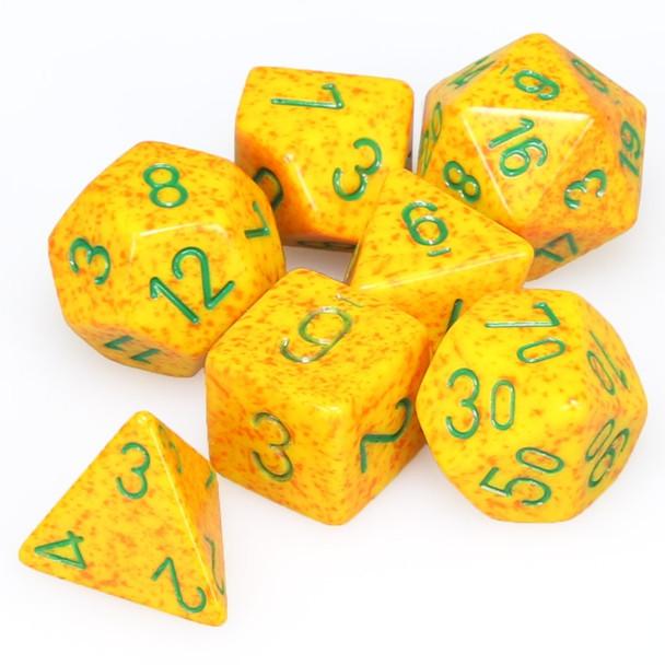 Speckled Lotus dice set - DnD dice