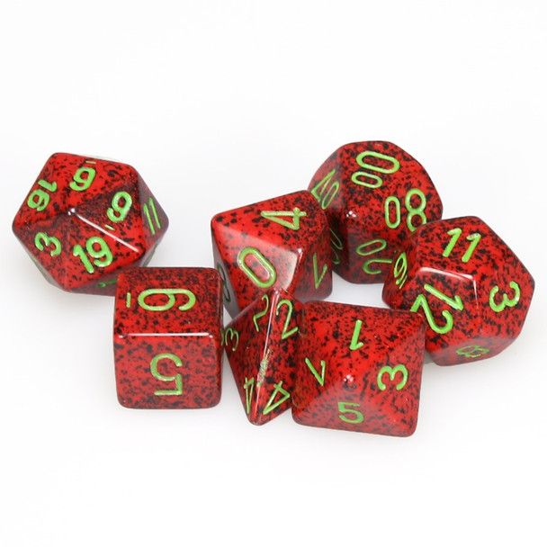 Speckled Strawberry dice set