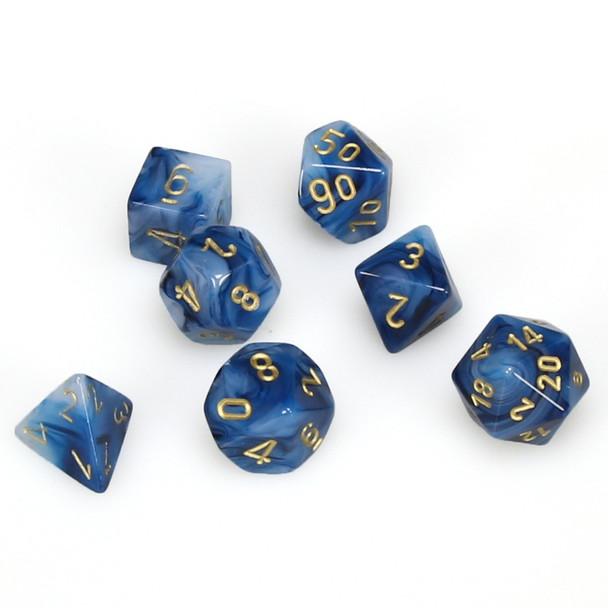 7-piece set of DnD dice - Phantom - Teal