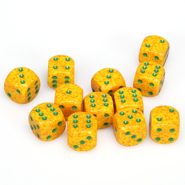Speckled Lotus dice - set of 12