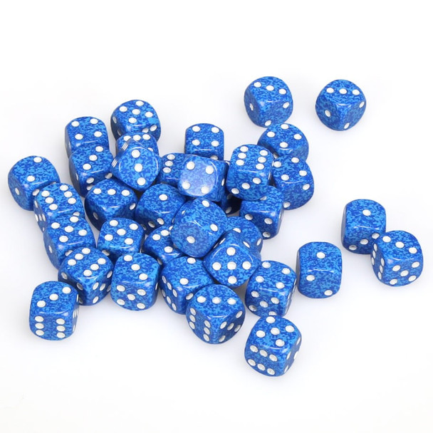 12mm Speckled Water d6s - Set of 36